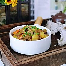 椰香咖喱牛肉#花10分钟,做一道菜!#