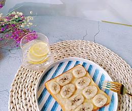 剩吐司的新吃法☞香蕉烤吐司片的做法