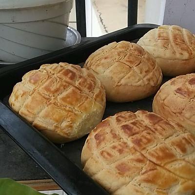 菠萝包冷藏17小时中种面包