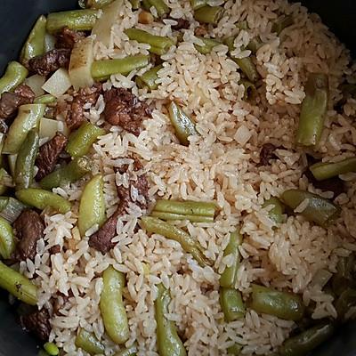 豆角土豆卤米饭
