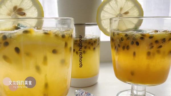 让夏季充满活力的百香果柠檬气泡水