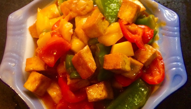 菠萝咕唠豆腐的做法