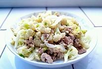 我喜爱的家常菜肴:菜花炒肉片的做法
