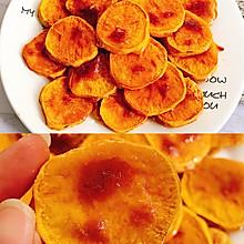 追剧小零食~低脂美味的香脆烤红薯片