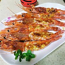 蒜香烤阿根廷红虾