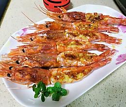 蒜香烤阿根廷红虾的做法