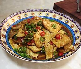 青红椒家常豆腐的做法