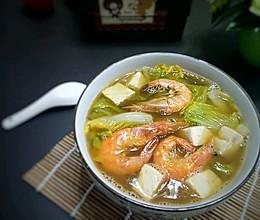 娃娃菜海鲜豆腐汤的做法
