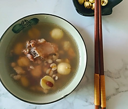 祛湿~莲子赤小豆排骨汤的做法
