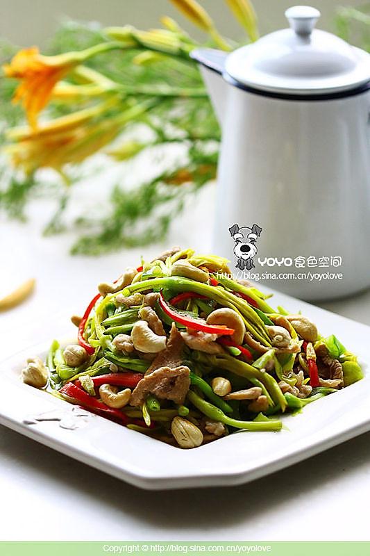 炒新鲜黄花菜的做法