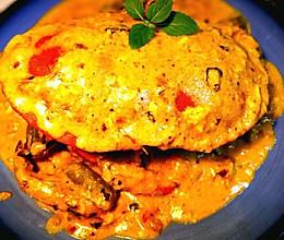 蕾蕾の咖喱面包蟹(活)的做法
