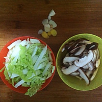 宝宝爱吃~香菇烩大白菜的做法图解1