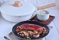 葱爆香辣面包蟹的做法