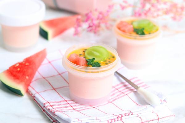 意式西瓜奶冻