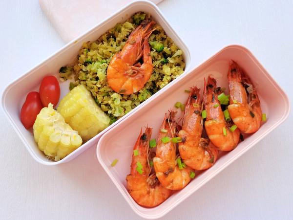 葱油爆虾+无米炒饭