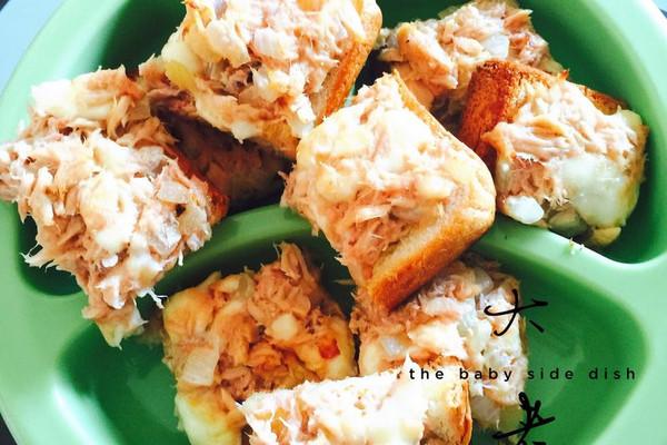 金枪鱼面包(宝宝辅食)的做法