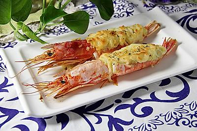 土豆泥芝士焗阿根廷红虾 #美的烤箱食谱#