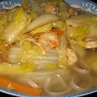 蔬菜虾仁盖浇面