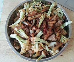 干锅菜花 干锅花菜 干煸菜花 五花肉菜花的做法