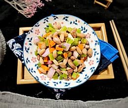 #晒出你的团圆大餐#快手蔬菜丁拌五香花生米的做法