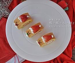 圣诞蛋糕卷这样做,松软可口,孩子吃得停不下来的做法