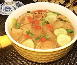 扇贝竹荪味增汤的做法