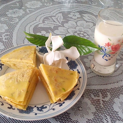 栀子花蛋饼