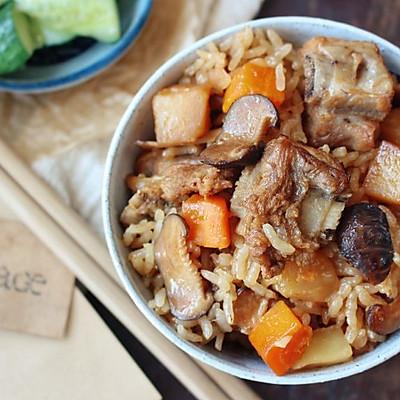 一碗喷香的排骨饭,承包了对于快手饭的所有期待。