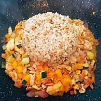 减肥餐--辣白菜时蔬糙米饭的做法图解5