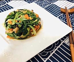 清炒香菇小白菜的做法