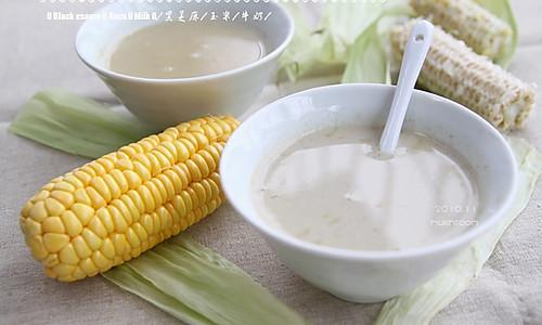 黑芝麻玉米奶的做法