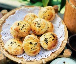 #安佳万圣烘焙奇妙夜#折叠法的糯米馅儿老婆饼的做法