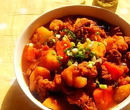 【番茄土豆炖牛腩】冬季炖菜的做法