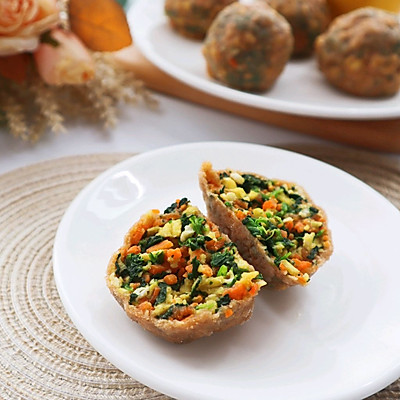 全麦面菜团子❗️低脂饱腹减肥主食代餐