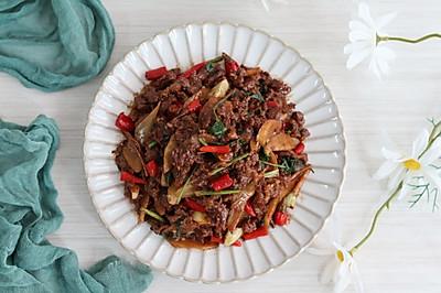 小炒黄牛肉,鲜嫩爽滑,香辣下饭