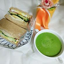 低脂减肥餐——果蔬三明治、果蔬汁