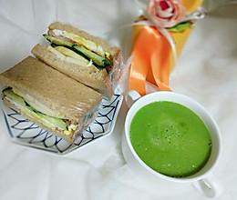 低脂减肥餐——果蔬三明治、果蔬汁的做法