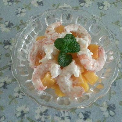 芒果鲜虾沙拉的做法 步骤4