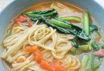 #换着花样吃早餐#西红柿炝锅汤面的做法