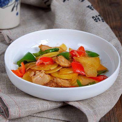 五花彩椒土豆片