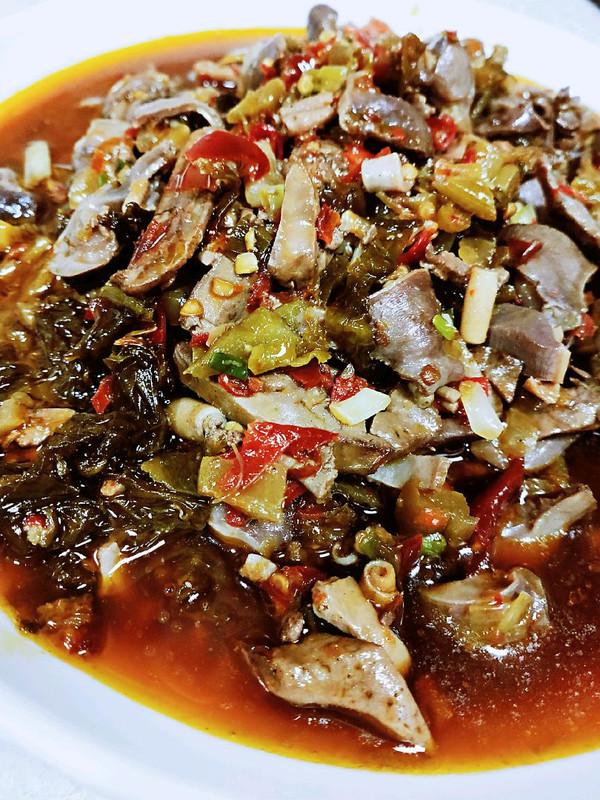 如此泡椒鸡杂,来三碗米饭够不够的做法