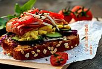 培根珍蟹全麦三明治#丘比轻食厨艺大赛#的做法