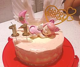 8寸睡公主生日蛋糕的做法