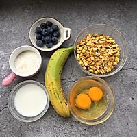 香蕉蓝莓燕麦的做法图解1