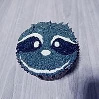 小浣熊立体彩绘杯蛋糕的做法图解15