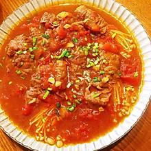 茄汁金针菇肥牛卷