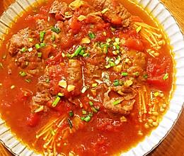 茄汁金针菇肥牛卷的做法