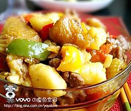 三黄鸡炖蔬菜的做法