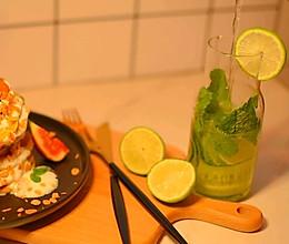 柠檬青瓜薄荷苏打水的做法