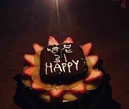 6寸生日蛋糕的做法